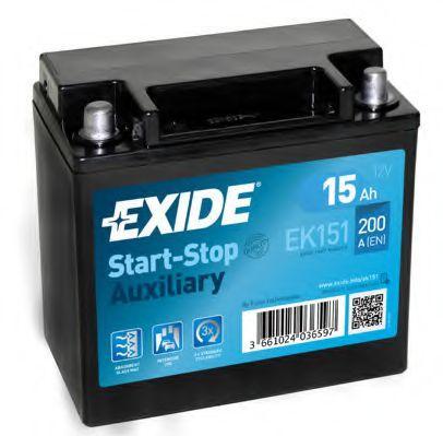 EK151 EXIDE Starterbatterie - online kaufen