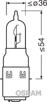 Bec, far faza lunga OSRAM 64327-01B ZIP PIAGGIO