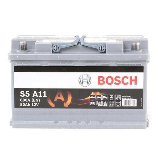 0092S5A110 Autobatterie BOSCH 12V80AH800A - Große Auswahl - stark reduziert