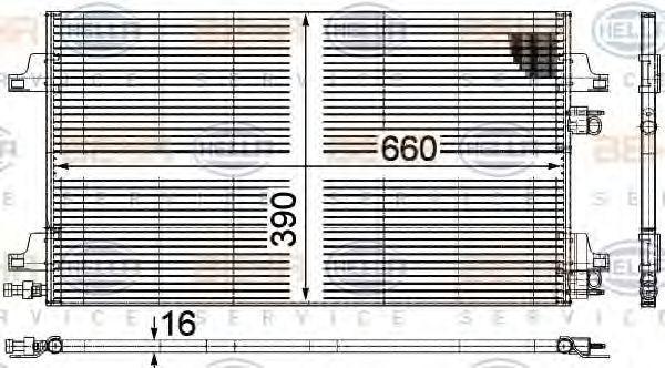 RENAULT VEL SATIS 2014 Klimakühler - Original HELLA 8FC 351 301-644
