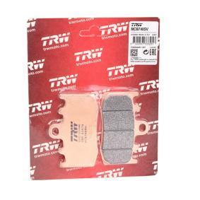 Moto TRW Sinter Street Height: 51,4mm, Thickness: 8,6mm Brake Pad Set, disc brake MCB748SV cheap