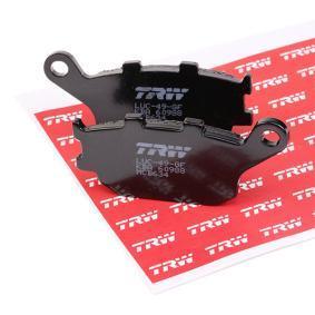 Comprar moto TRW Organic Allround Altura: 40mm, Espesor: 8,9mm Juego de pastillas de freno MCB634 a buen precio