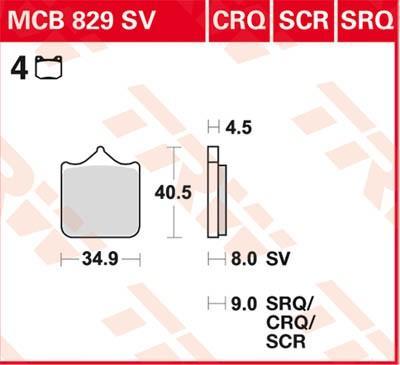Remblokkenset, schijfrem MCB829CRQ met een korting — koop nu!