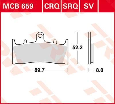 Zestaw klocków hamulcowych, hamulce tarczowe MCB659SV w niskiej cenie — kupić teraz!