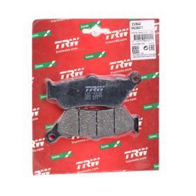 Pirkti moto TRW Organic Allround aukštis: 40,1mm, storis: 7,7mm Stabdžių trinkelių rinkinys, diskinis stabdys MCB671 nebrangu