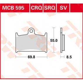 Moto TRW Sinter Street Höhe: 54,9mm, Dicke/Stärke: 8,5mm Bremsbelagsatz, Scheibenbremse MCB595SV kaufen