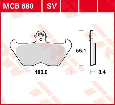 Remblokkenset, schijfrem TRW MCB680SV R 1200 BMW