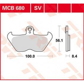 Moto TRW Sinter Street Height: 56,1mm, Thickness: 8,4mm Brake Pad Set, disc brake MCB680SV cheap