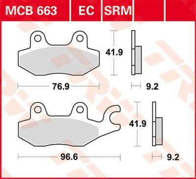 TRW Organic Allround Zestaw klocków hamulcowych, hamulce tarczowe MCB663 MZ