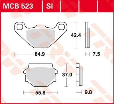 Komplet zavornih oblog, ploscne (kolutne) zavore MCB523SI po znižani ceni - kupi zdaj!
