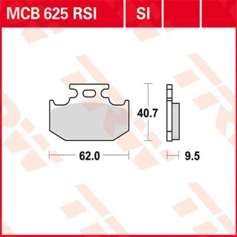 Stabdžių trinkelių rinkinys, diskinis stabdys MCB625SI su nuolaida — įsigykite dabar!