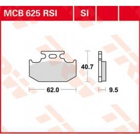 Pirkti moto TRW Sinter Offroad aukštis: 40,7mm, storis: 9,5mm Stabdžių trinkelių rinkinys, diskinis stabdys MCB625SI nebrangu