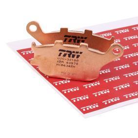 Achat de Moto TRW Sinter Street Hauteur: 40mm, Épaisseur: 8,9mm Kit de plaquettes de frein, frein à disque MCB634SH pas chères