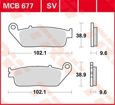 Zestaw klocków hamulcowych, hamulce tarczowe MCB677SV w niskiej cenie — kupić teraz!