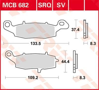 Komplet zavornih oblog, ploscne (kolutne) zavore MCB682SV po znižani ceni - kupi zdaj!