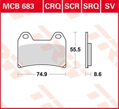 Sada brzdových destiček, kotoučová brzda MCB683SV ve slevě – kupujte ihned!