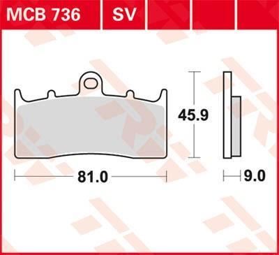 Sada brzdových destiček, kotoučová brzda MCB736 ve slevě – kupujte ihned!