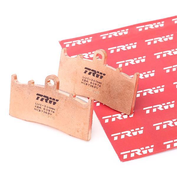 Moto TRW Sinter Street H: 45,7mm, Tjocklek: 9mm Bromsbeläggssats, skivbroms MCB736SV köp lågt pris