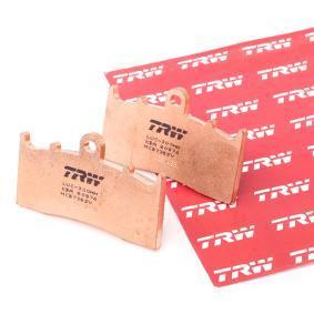 Купете мото TRW Sinter Street височина: 45,7мм, дебелина: 9мм Комплект спирачно феродо, дискови спирачки MCB736SV евтино