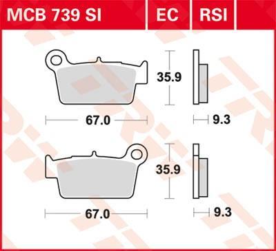 Комплект спирачно феродо, дискови спирачки MCB739SI на ниска цена — купете сега!