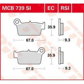 Купете мото TRW Sinter Offroad височина: 35,9мм, дебелина: 9,3мм Комплект спирачно феродо, дискови спирачки MCB739SI евтино
