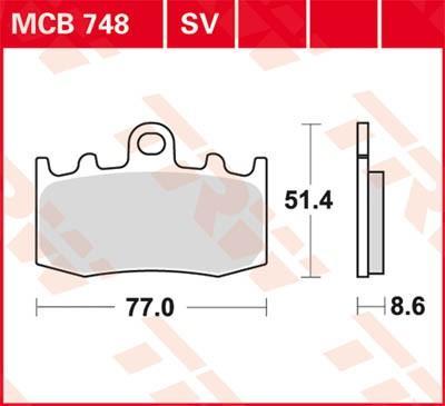 Sada brzdových destiček, kotoučová brzda MCB748 ve slevě – kupujte ihned!