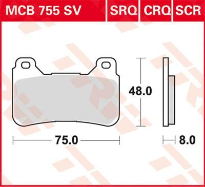 Set placute frana, frana disc MCB755SRQ la preț mic — cumpărați acum!