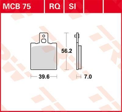 Kit de plaquettes de frein, frein à disque MCB75SI à bas prix — achetez maintenant !