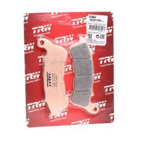 Achat de Moto TRW Sinter Street Hauteur: 44,9mm, Épaisseur: 8,8mm Kit de plaquettes de frein, frein à disque MCB776SV pas chères
