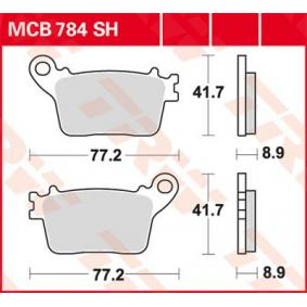 Купете мото TRW Sinter Street височина: 41,7мм, дебелина: 8,9мм Комплект спирачно феродо, дискови спирачки MCB784SH евтино