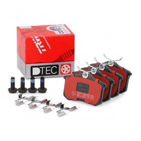 20961 TRW DTEC COTEC ej förberdd för slitvarnarkontakt, med bromsoksskruvar, med tillbehör H: 52,9mm, Tjocklek: 17,0mm Bromsbeläggssats, skivbroms GDB1330DTE köp lågt pris