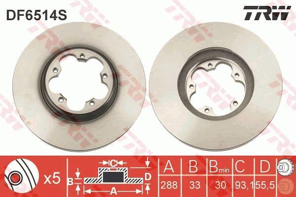 DF6514S Bremsscheibe TRW Test
