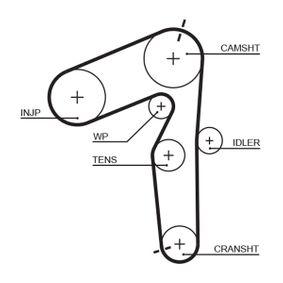 KP45500XS Wasserpumpe + Zahnriemensatz GATES WP0005 - Große Auswahl - stark reduziert