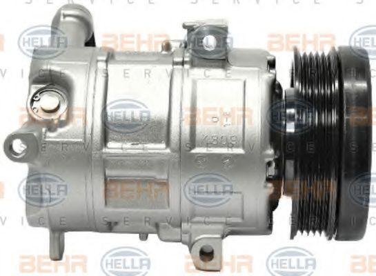 8FK 351 114-781 Ilmastointilaitteen kompressori HELLA - Edullisia merkki tuotteita