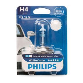 H4 PHILIPS 60/55W, H4, 12V Lâmpada, farol de longo alcance 12342WHVB1 comprar económica