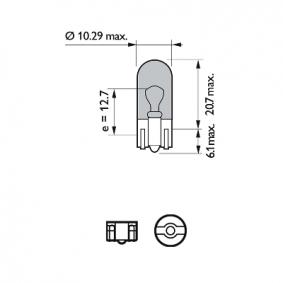 12961NBVB2 Hõõgpirn, Suunatuli WhiteVision PHILIPS W5W - Lai valik