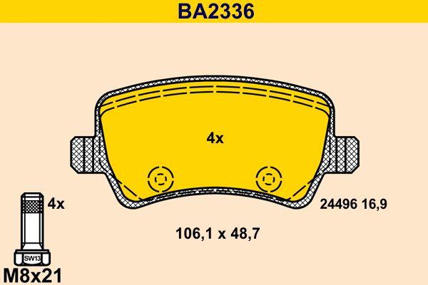 Bremsbelagsatz Barum BA2336