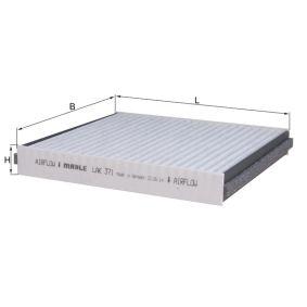 LA371 MAHLE ORIGINAL Aktivkohlefilter Breite: 200,0mm, Höhe: 30,0mm Filter, Innenraumluft LAK 371 günstig kaufen