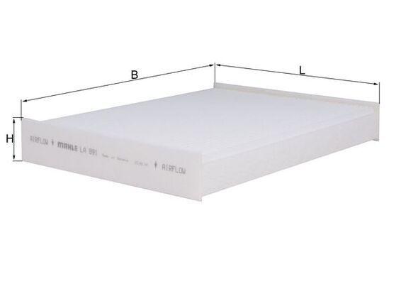 LAO891 MAHLE ORIGINAL Partikelfilter Breite: 248,0mm, Höhe: 35,0mm Filter, Innenraumluft LA 891 günstig kaufen