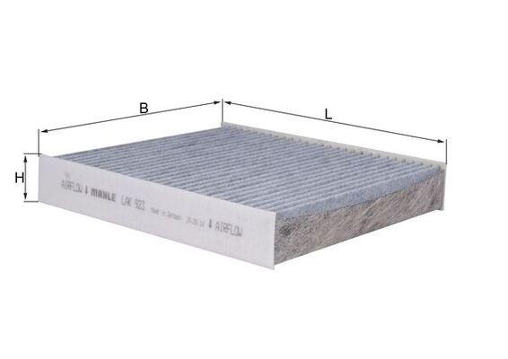 LAO923 MAHLE ORIGINAL Aktivkohlefilter Breite: 200,0mm, Höhe: 35,0mm Filter, Innenraumluft LAK 923 günstig kaufen
