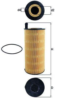 MAHLE ORIGINAL Ölfilter passend für MERCEDES-BENZ - Artikelnummer: OX 423/9D