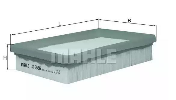 Zracni filter LX 3536 z izjemnim razmerjem med MAHLE ORIGINAL ceno in zmogljivostjo