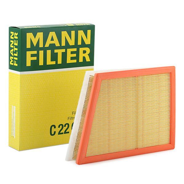 MANN-FILTER: Original Luftfiltereinsatz C 22 018 (Länge: 211mm, Länge: 211mm, Breite: 294mm, Höhe: 54mm)