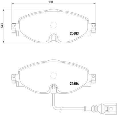 BREMBO | Brake Pad Set, disc brake P 85 126