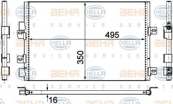 Original RENAULT Klimakondensator 8FC 351 306-611