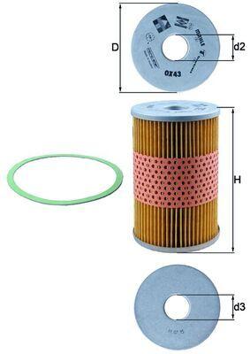 MAHLE ORIGINAL Filtr oleju do DAF - numer produktu: OX 43D