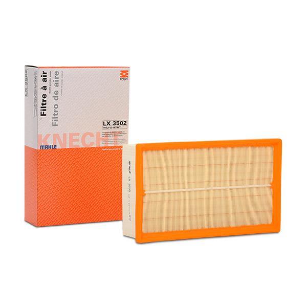Achetez Filtre à air MAHLE ORIGINAL LX 3502 (Longueur coque: 290,0mm, Longueur: 175,0mm, Largeur: 175,0mm, Hauteur: 62mm) à un rapport qualité-prix exceptionnel