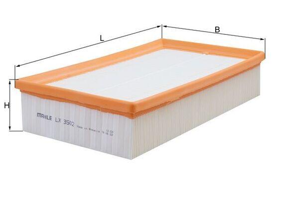 LX 3502 Zracni filter MAHLE ORIGINAL - poceni izdelkov blagovnih znamk