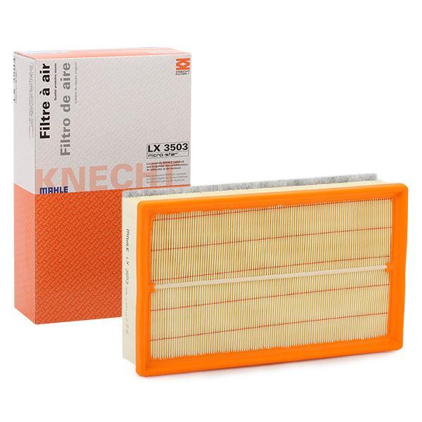 Achetez Filtre à air MAHLE ORIGINAL LX 3503 (Longueur coque: 290,0mm, Longueur: 175,0mm, Largeur: 175,0mm, Hauteur: 71mm) à un rapport qualité-prix exceptionnel