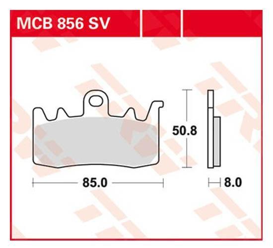 Sada brzdových destiček, kotoučová brzda MCB856SV ve slevě – kupujte ihned!